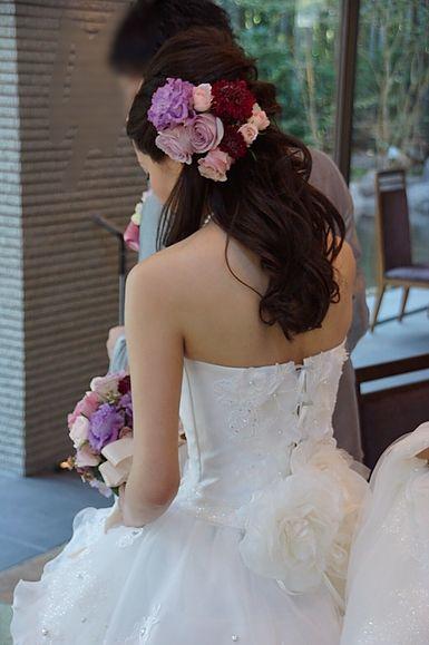 ライラックローズ ブライダルエステ イメージ画像 MR3 背中綺麗 美肌 美白 痩身 ダイエット 花嫁 結婚式 ドレス